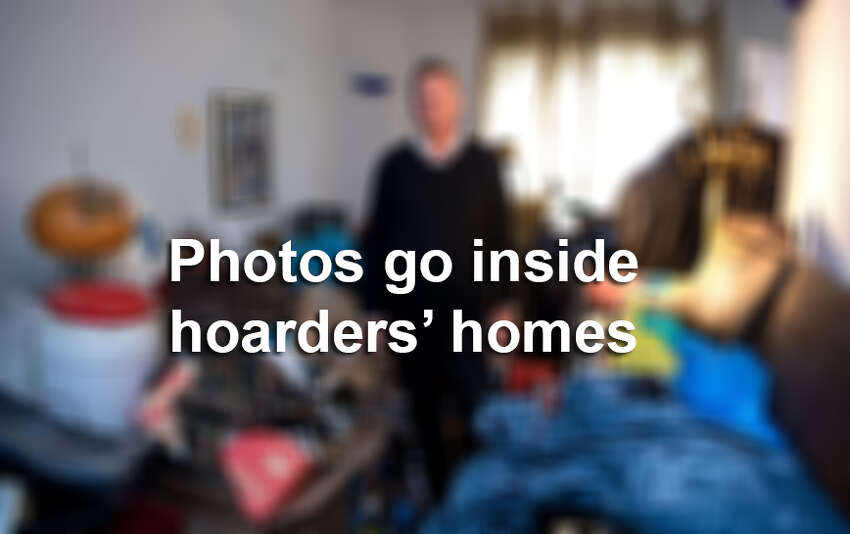 Photos go inside the homes of hoarders.
