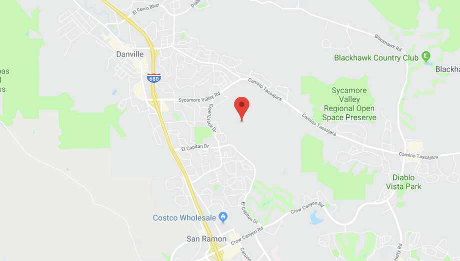 Two small quakes, one of them near San Ramon, rattled the Bay Area on Monday night. Photo: Google Maps