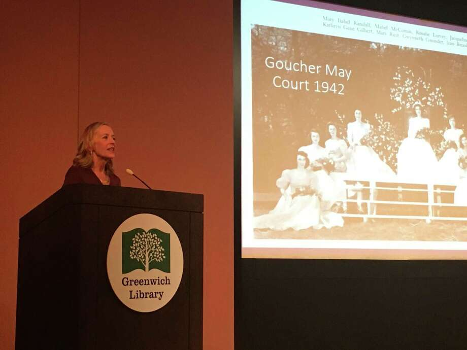'Code Girls' author Liza Mundy speaks last year at the Cole Auditorium as part of the Greenwich Reads Together event. Photo: Jo Kroeker / Hearst Media Connecticut /