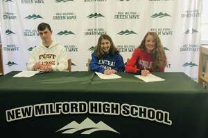 From left: Ian Magner, Brooke Morabito and Katie Delaney signed their National Letters of Intent on Monday.
