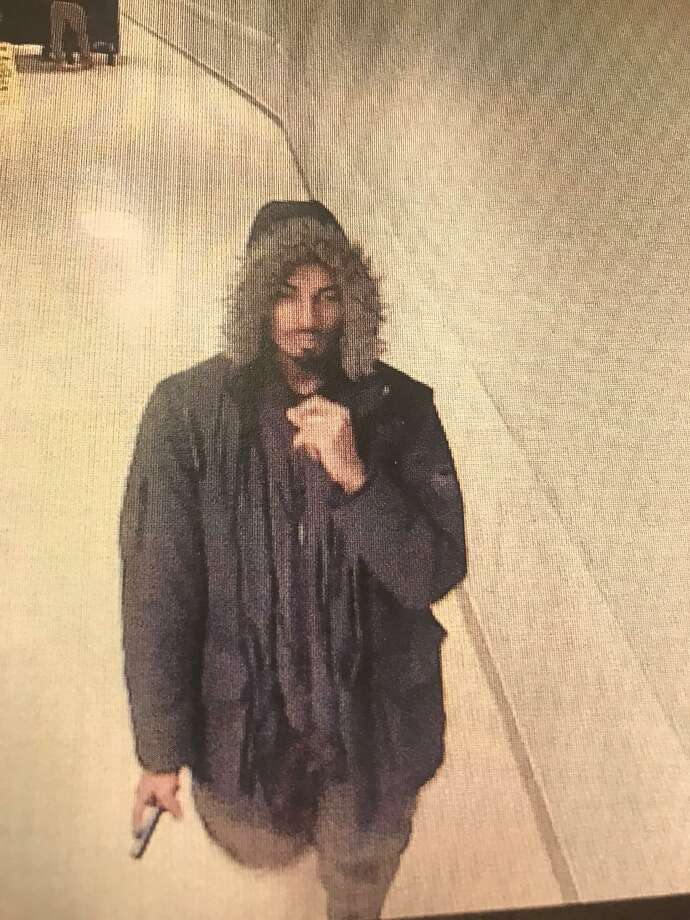 This surveillance photo of a man who stole dozens of computers from Stamford Hospital helped police arrest Joseph Allende, 23, of Stamford as a suspect in the case. Photo: Connecticut Judicial Branch / Contributed