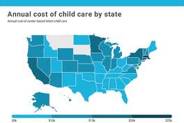 California had the second-most expensive childcare in the nation.
