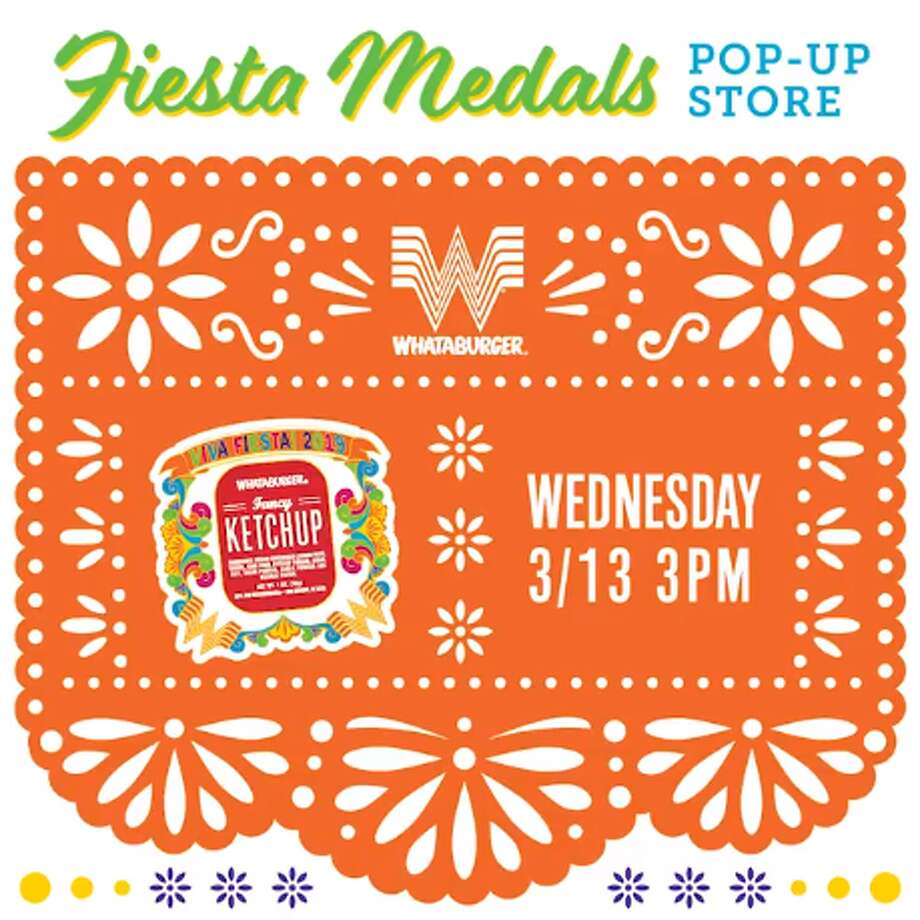 Whataburger's 2019 Fiesta medal will launch March 13 at a pop up party at the chain's downtown location before going live on the online store for $10.99. Photo: Courtesy, Whataburger