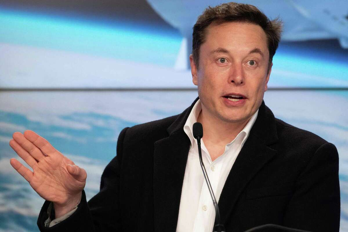 SpaceX chief Elon Musk speaks during a press conference earlier this month after the launch of SpaceX Crew Dragon Demo mission at the Kennedy Space Center in Florida.
