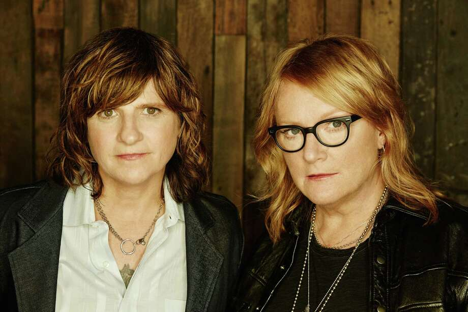 The Indigo Girls, Amy Ray, left, and Emily Saliers, perform at The Warner Theatre in Torrington on March 23. Photo: Contributed Photo