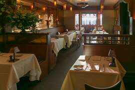 Dining room at Chez Panisse, a place that inspires prose