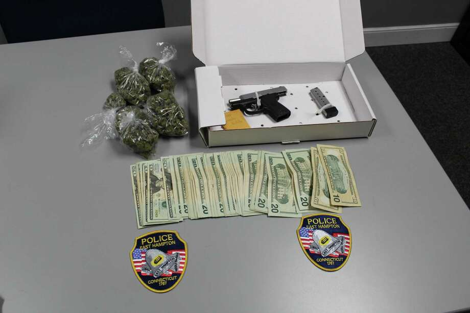 Items seized Monday during a raid at a White Birch Road home in East Hampton. Photo: Courtesy Of East Hampton PD
