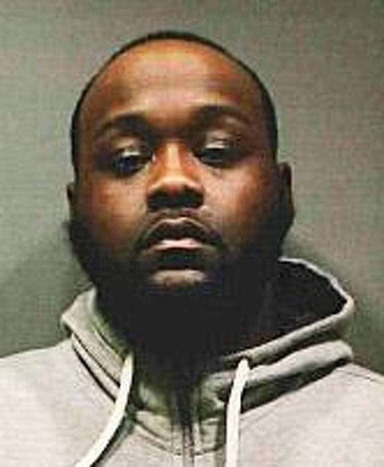 """Edward Johnson, 28 of Bridgeport, was arrested and charged with possession of narcotics with intent to sell, possession of marijuana and fail to signal Capt. Frank Eannotti said """"during the interview, detectives noticed that Johnson's pants were hanging low and the detectives observed black plastic protruding from Johnsons groin area. This appeared suspicious to the detectives. During a pat down of Johnson, the detectives felt a large object secreted in his groin area which they knew was not part of the male anatomy. The object was removed and found to be 108 grams of Cocaine and approximately 50 grams of marijuana."""" Johnson held on a $150,000, which he was unable to post. Photo: Stratford Police Department Photo"""