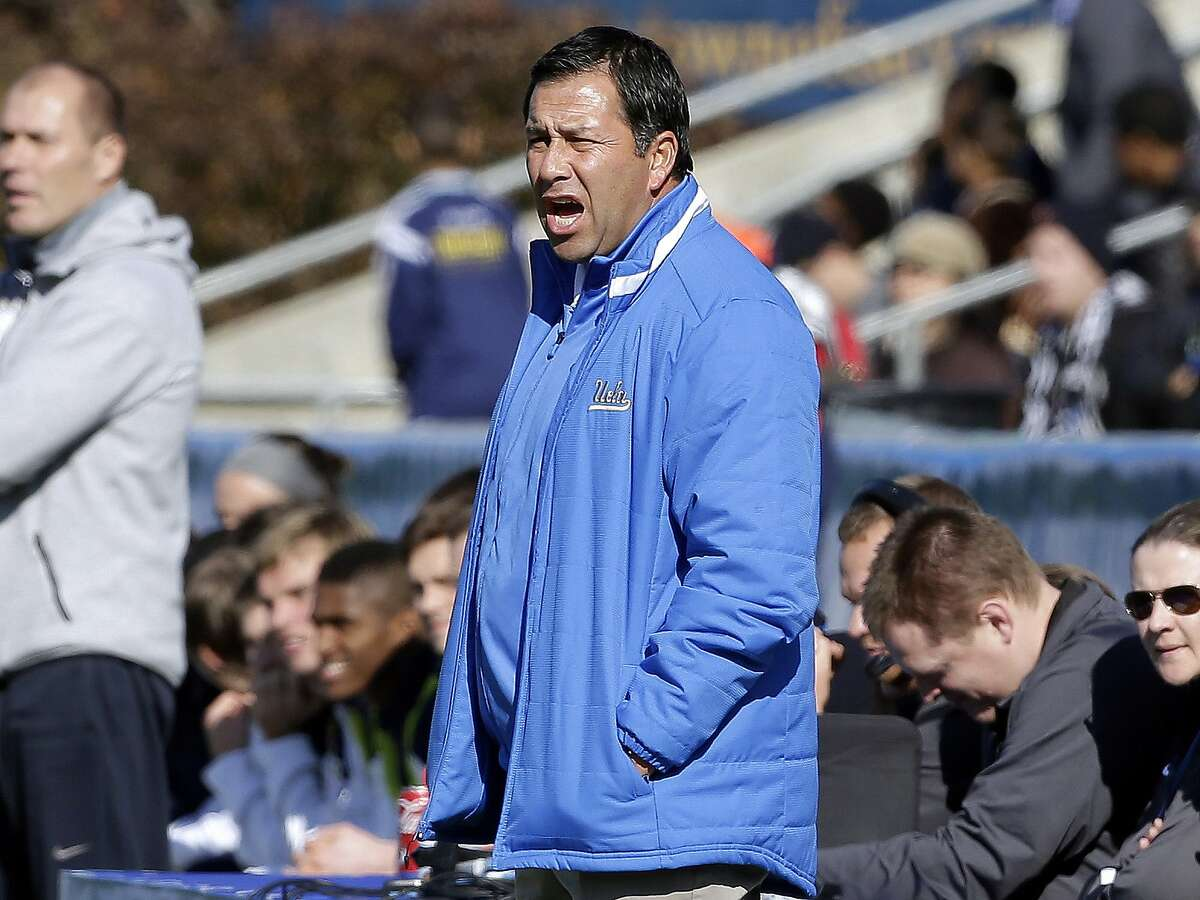 UCLA coach Jorge Salcedowas charged along with nearly 50 other people Tuesday, March 12, 2019, in a scheme in which wealthy parents bribed college coaches and insiders at testing centers to get their children into some of the most elite schools in the country, federal prosecutors said.