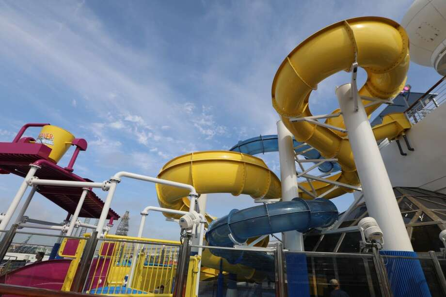 Among new features onboard the Carnival Freedom is the WaterWorks' AquaTunnel, a 203-foot-long enclosed slide and the 212-foot-long Twister slide. Photo: Carnival Cruises