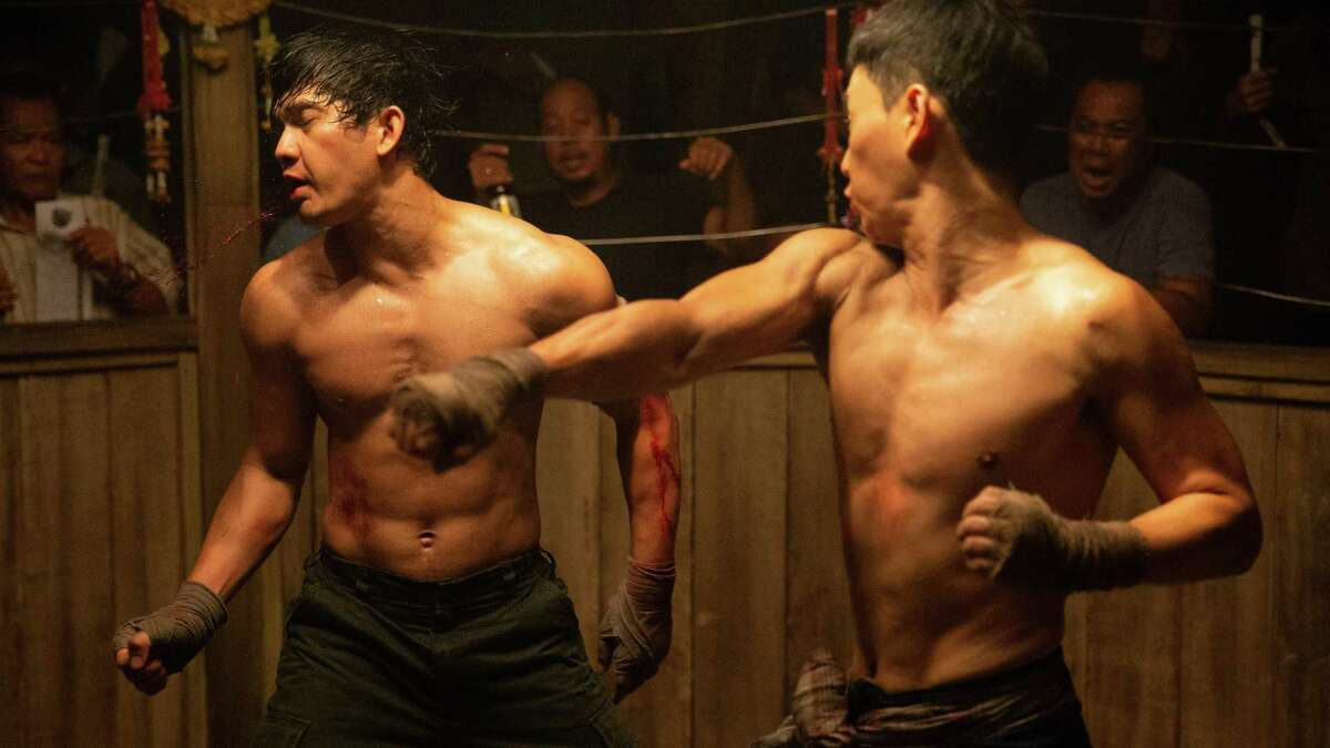 Iko Uwais and Tiger Chen fight in 'Triple Threat'