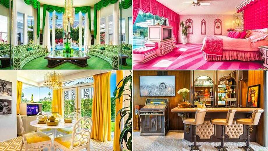 This Palm Springs, Calif., home comes completely furnished, so a buyer doesn't have to scour the internet for acid-hued floral sofas or macramé wall hangings. Photo: Realtor.com