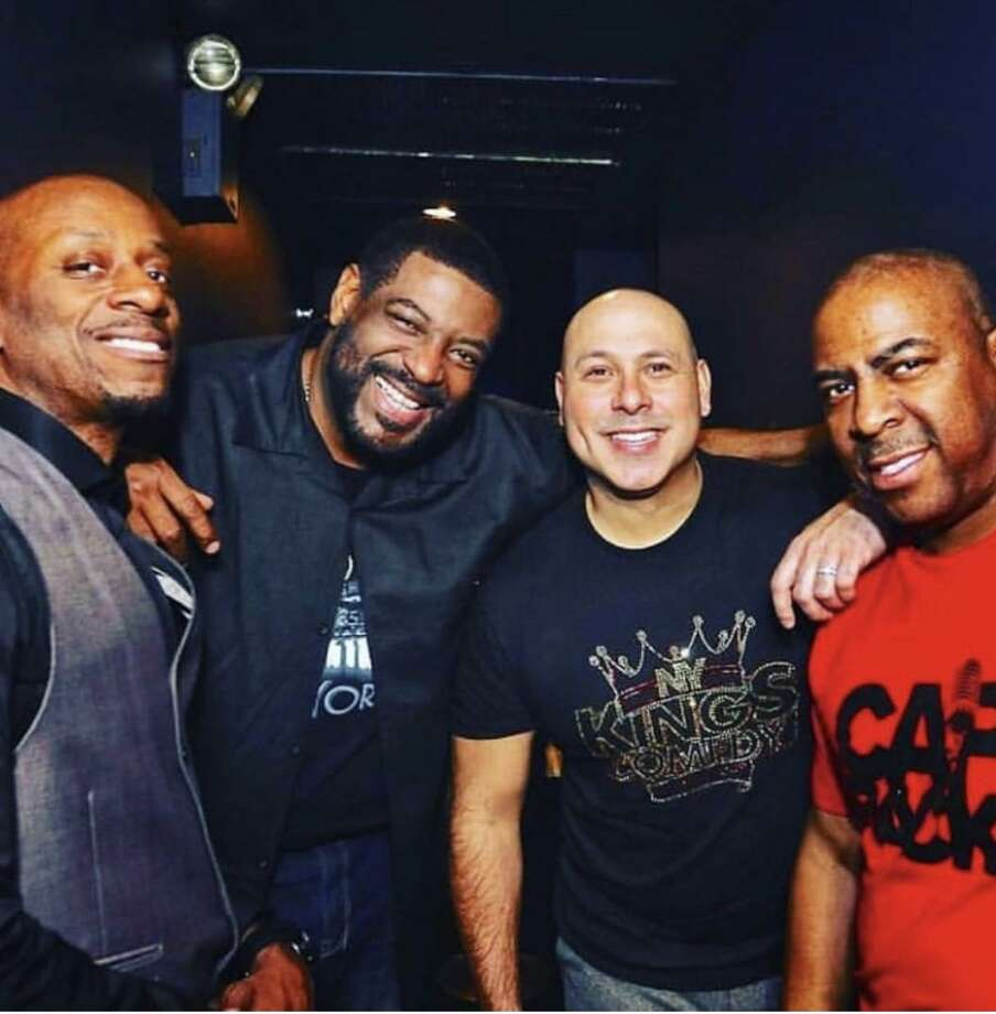From left, comedy pals Rob Stapleton, Talent, Mark Viera and Capone. Photo: Kenne Thompson / Contributed Photo