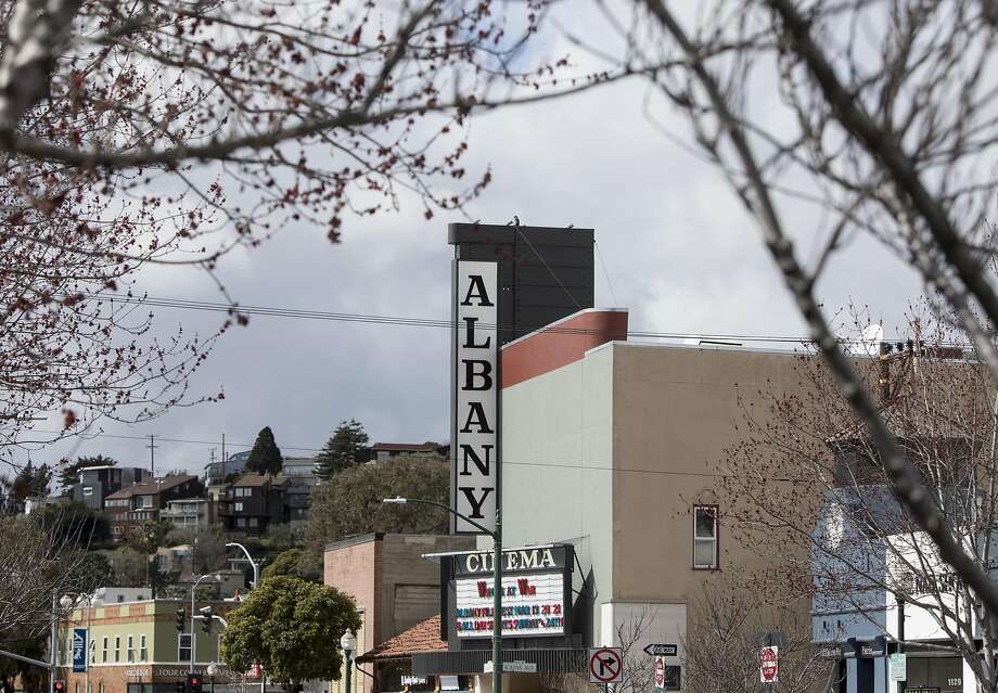 The Albany Twin Theater is seen along Solano Avenue in Albany, Calif. Friday, March 8, 2019. Photo: Jessica Christian / The Chronicle