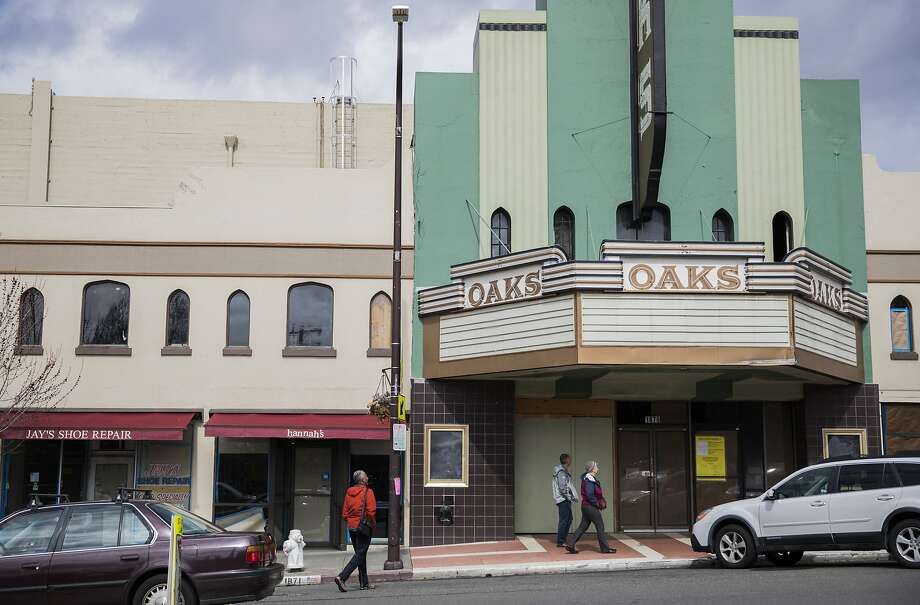 The former Oaks Theater is seen shuttered along Solano Avenue in Berkeley, Calif. Saturday, March 9, 2019. Photo: Jessica Christian / The Chronicle