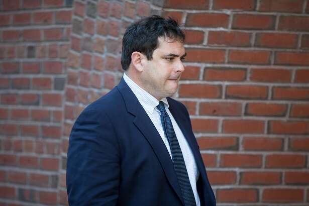 BOSTON, MA - MARCH 12: Stanford sailing coach John Vandemoer arrives for his arraignment at Boston Federal Court on March 12, 2019 in Boston, Massachusetts. Vandemoer is among several charged in alleged college admissions scam. ~~