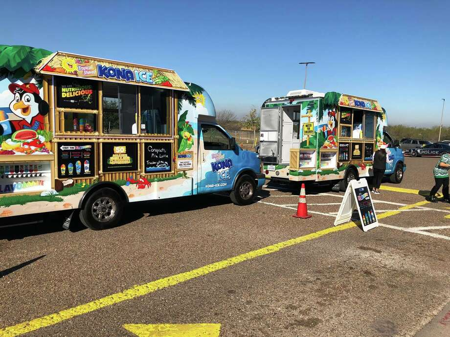 Kona Ice is a mobile franchise that whips up shaved ice in a tropical-themed truck. A portion of their proceeds are donated to local organizations, schools or charities. Photo: Courtesy Fernando Guerra