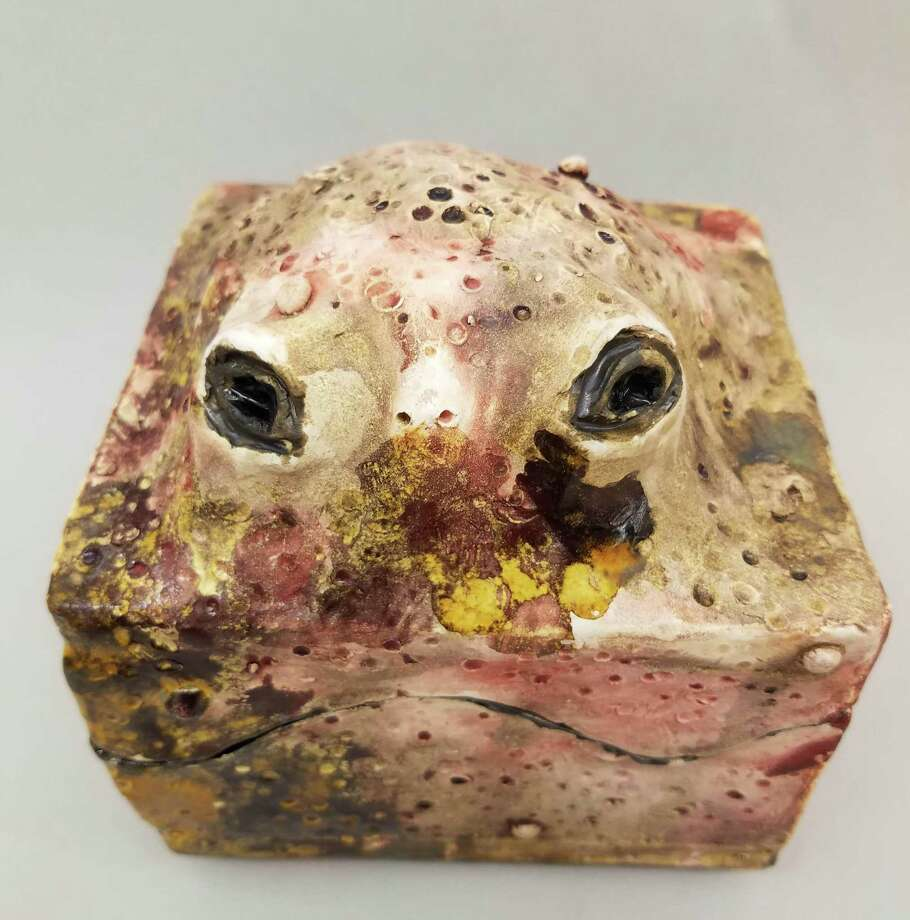 """Toad Box,"" created by New Milford High School junior Kyle Paist, has been accepted into the National K-12 Juried Student Ceramics Exhibition. Photo: Courtesy Of Annette Marcus / The News-Times Contributed"