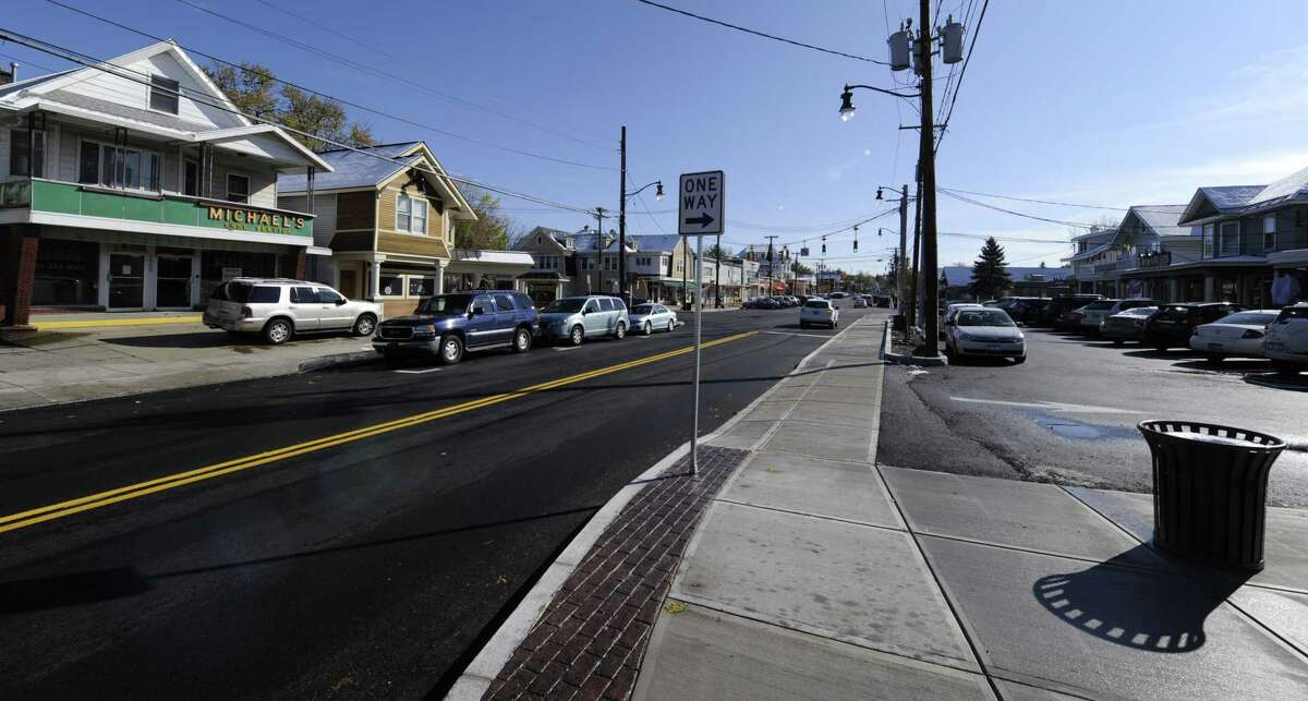 New paving and sidewalks were part of the $4 million renovation of upper Union Street in Schenectady in 2011. (Skip Dickstein/Times Union)