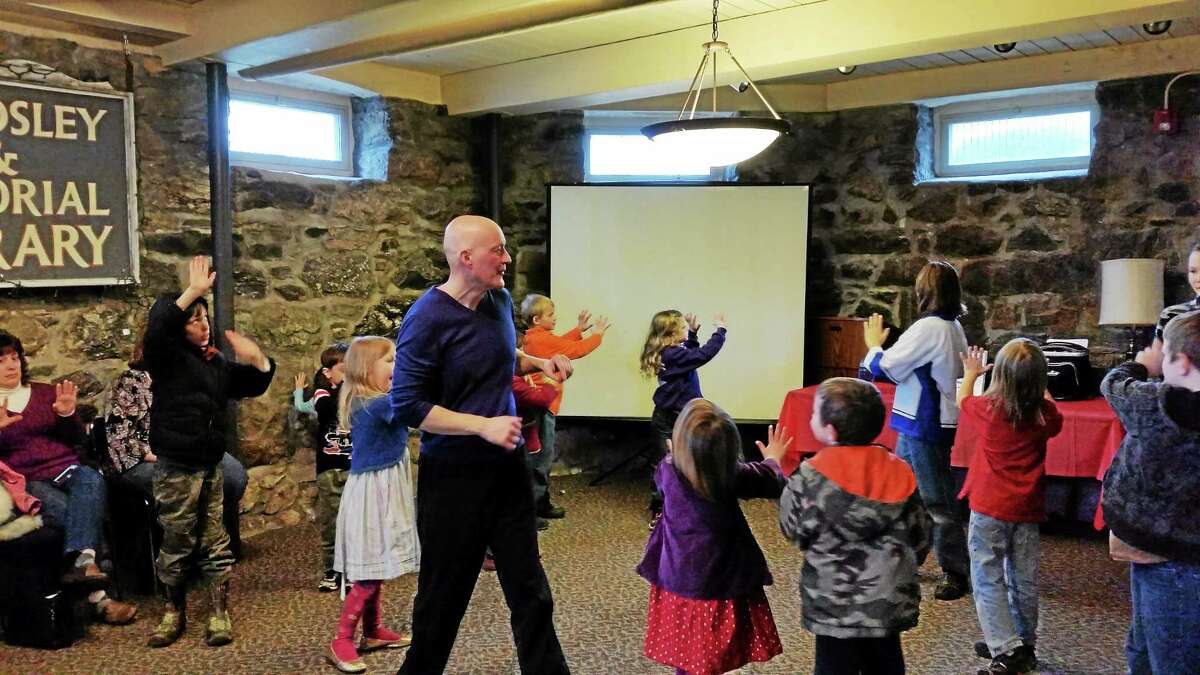 A children's program at the Beardsley Library.