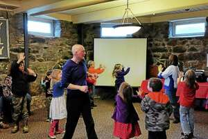 """A children's program at the Beardsley Library was part of a """"One World, Many Stories!"""" that explored world cultures."""