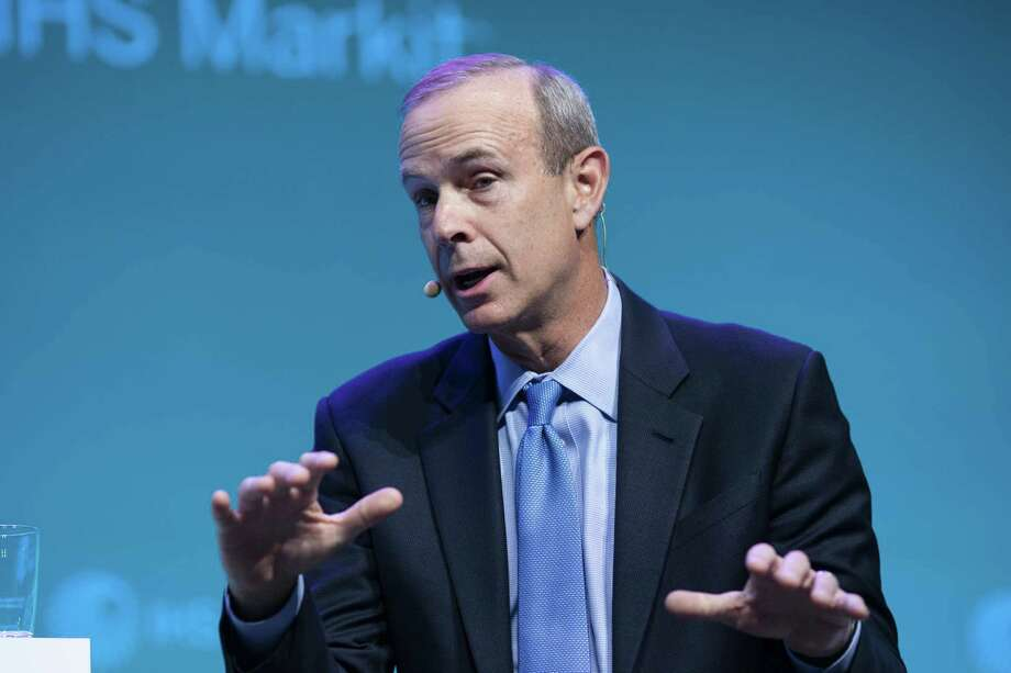 Mike Wirth, chairman and chief executive officer of Chevron Corp., speaks during the 2019 CERAWeek by IHS Markit conference in Houston, Texas, U.S., on Tuesday, March 12, 2019. The program provides comprehensive insight into the global and regional energy future by addressing key issues from markets and geopolitics to technology, project costs, energy and the environment, finance, operational excellence and cyber risks. Photographer: F. Carter Smith/Bloomberg Photo: F. Carter Smith / Bloomberg / © 2019 Bloomberg Finance LP