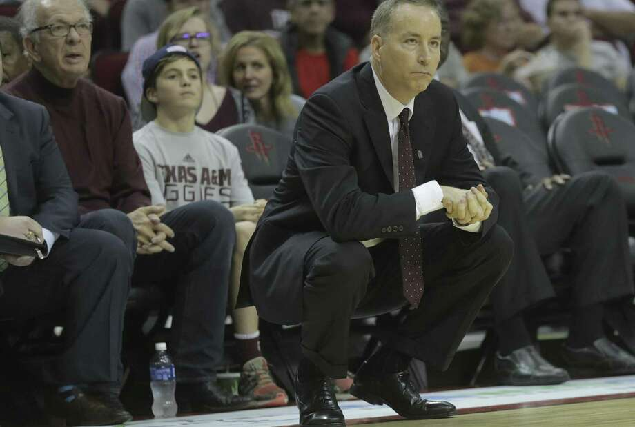 Texas A&M coach Billy Kennedy, at a game in Houston against Arizona in 2016, won't be back for the Aggies after going 13-17 this season. Photo: Elizabeth Conley /Houston Chronicle / © 2016 Houston Chronicle