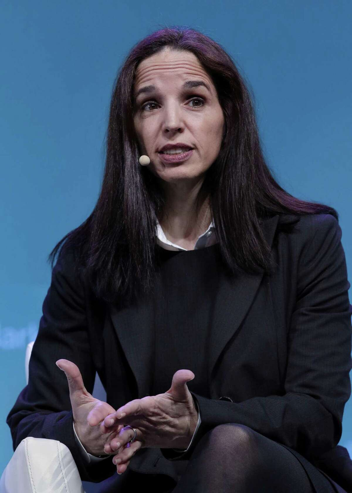Luisa Palacios, Chairwoman of Citgo Petroleum Corp. comments during a panel discussion titled