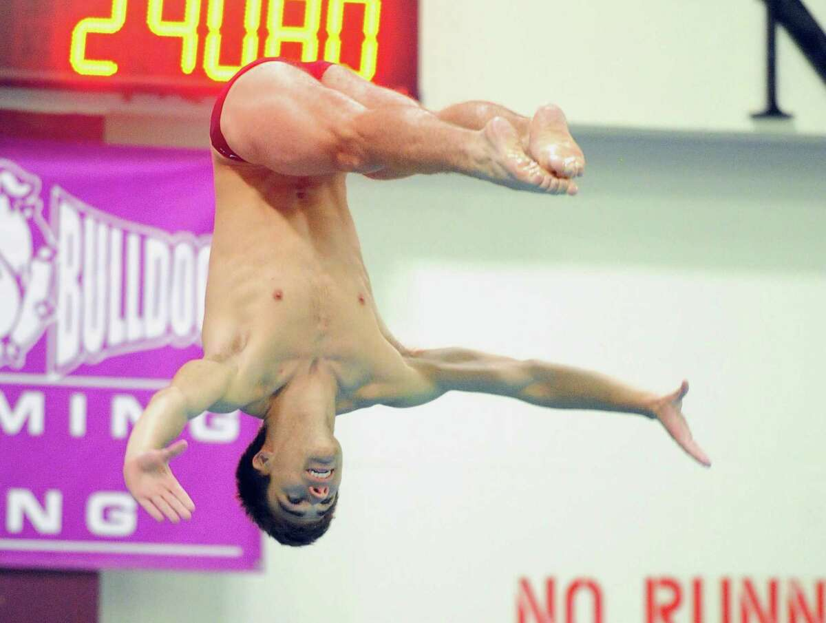 State Open Diving Championship action in Hartford, Conn., on Tuesday Mar. 12 2019.