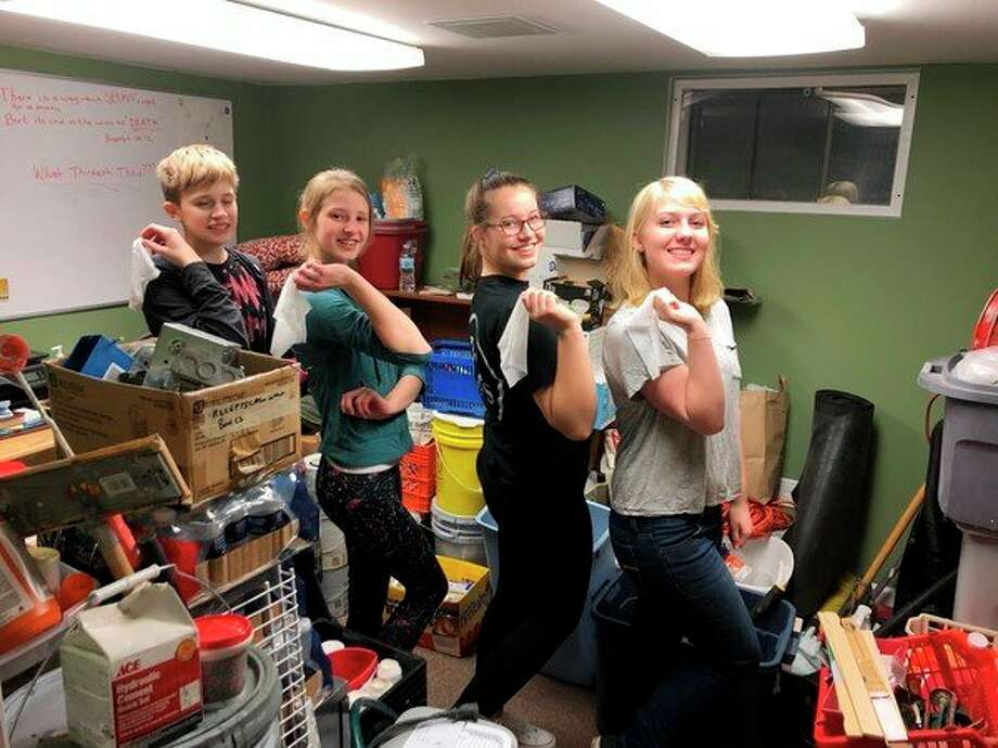 Girl Scout Troop 50060 and volunteers from the Midland Lowe's recently volunteered at Midland's Open Door. (Photo provided)