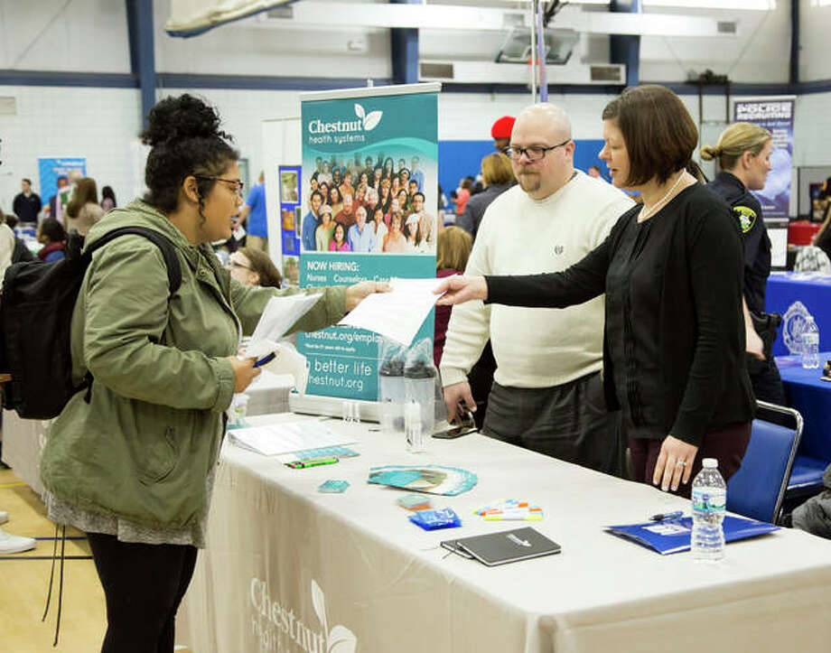 Lewis and Clark Community College held its 2018 Job Fair in the George C. Terry River Bend Arena. Photo: Courtesy Of Jan Dona | L&C Media Services
