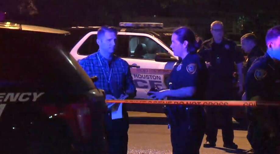 A man who appeared to be around 50 years old was found dead late Tuesday in the street of a south Houston neighborhood. Police have not been able to identify him. Photo: Metro Video