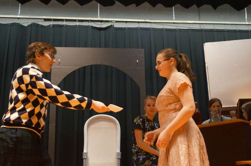 Rehearsals for the Hadley-Luzerne Junior/Senior High School's production of