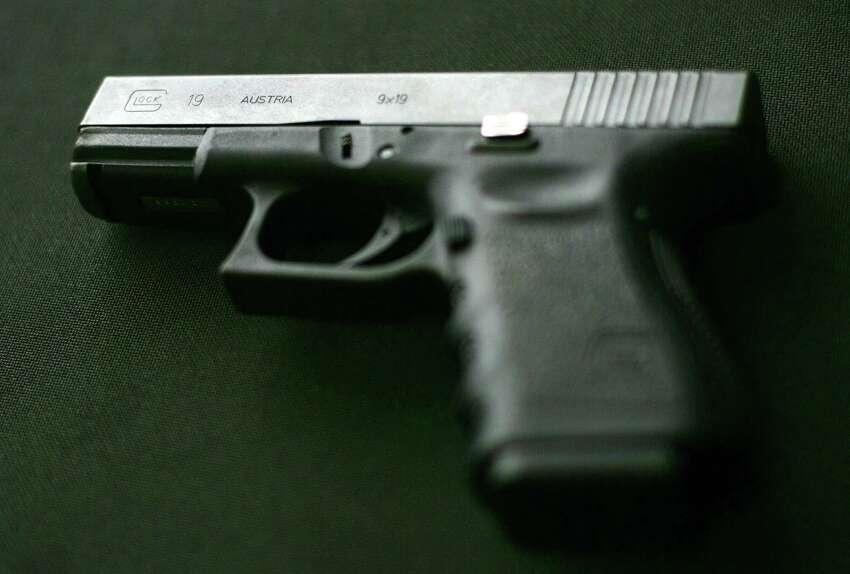 FILE - A Glock 9 mm handgun.