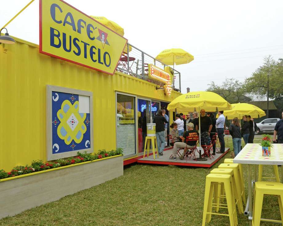 Customers wait in line during the grand opening of Cafe Bustelo on Montrose Blvd. in Houston, TX on Tuesday, March 12, 2019. Photo: Craig Moseley, Staff Photographer / ©2019 Houston Chronicle