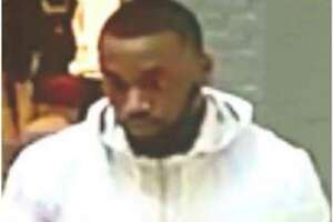 Montgomery County Sheriff's Office deputies say the man seen here is said to have fled a kiosk at The Woodlands Mall with an unpaid bracelet.
