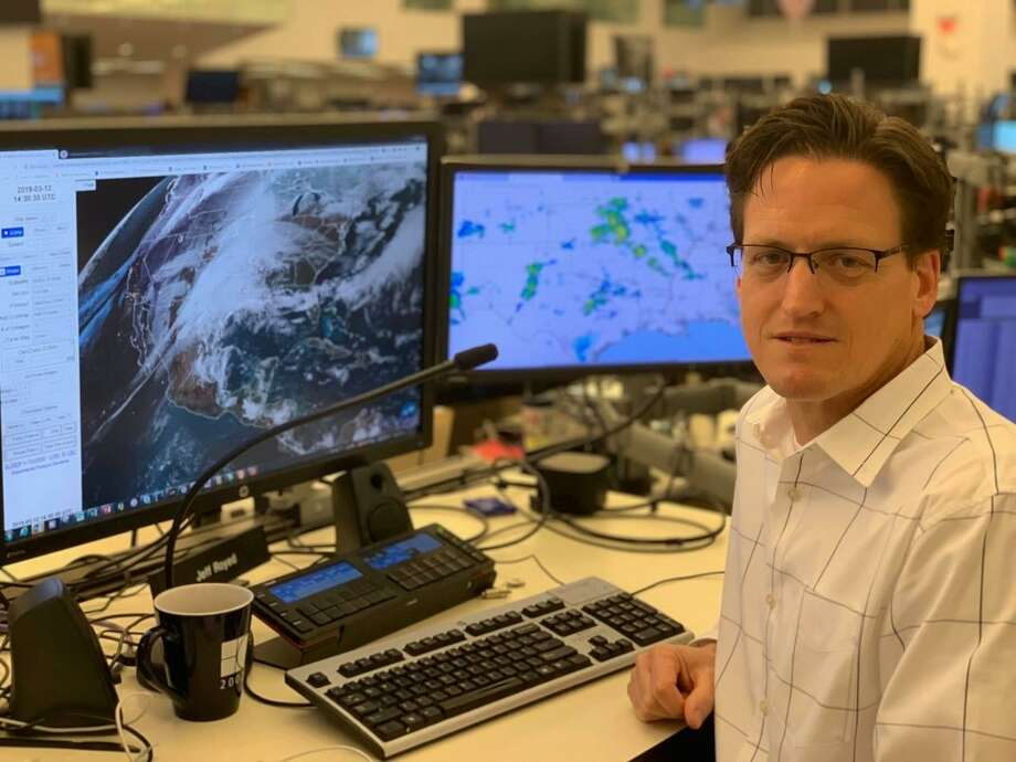 "Jeffrey Royed, who lives in the Alden Bridge village in The Woodlands, is a meteorologist at Shell Energy Trading, an arm of Shell Global. On Facebook, he's the ""Woodlands Weather Dude"". Photo: Submitted Photo / Submitted Photo"