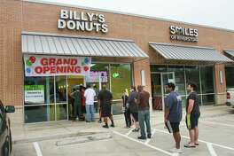 People lined up at Billy's Donuts. Billy's dad, Satharith By, launched a donut and kolache shop in Missouri City this past weekend. But no one came, so Billy By turned to Twitter. Almost immediately, his adorable post about his dad's disappointment went viral and they sold out of donuts.