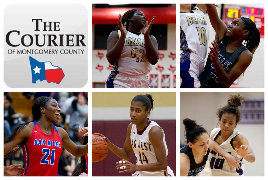 Montgomery's Deshayla Mallard, Willis' De'Janae Gilmore, Oak Ridge's Alecia Whyte, Magnolia West's Kamryn Jones and Willis' Jasmine Kelly are The Courier's nominees for Defensive MVP. Photo: Staff Photos