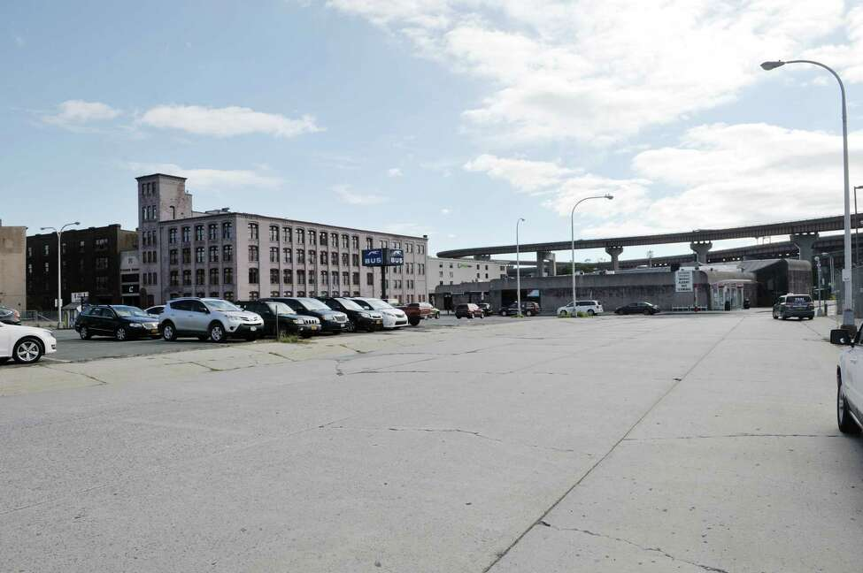 The Albany Parking Lot District is a dreary part of downtown near the Times Union Center and the Greyhound bus station. (Paul Buckowski / Times Union) ORG XMIT: MER2015100715391122