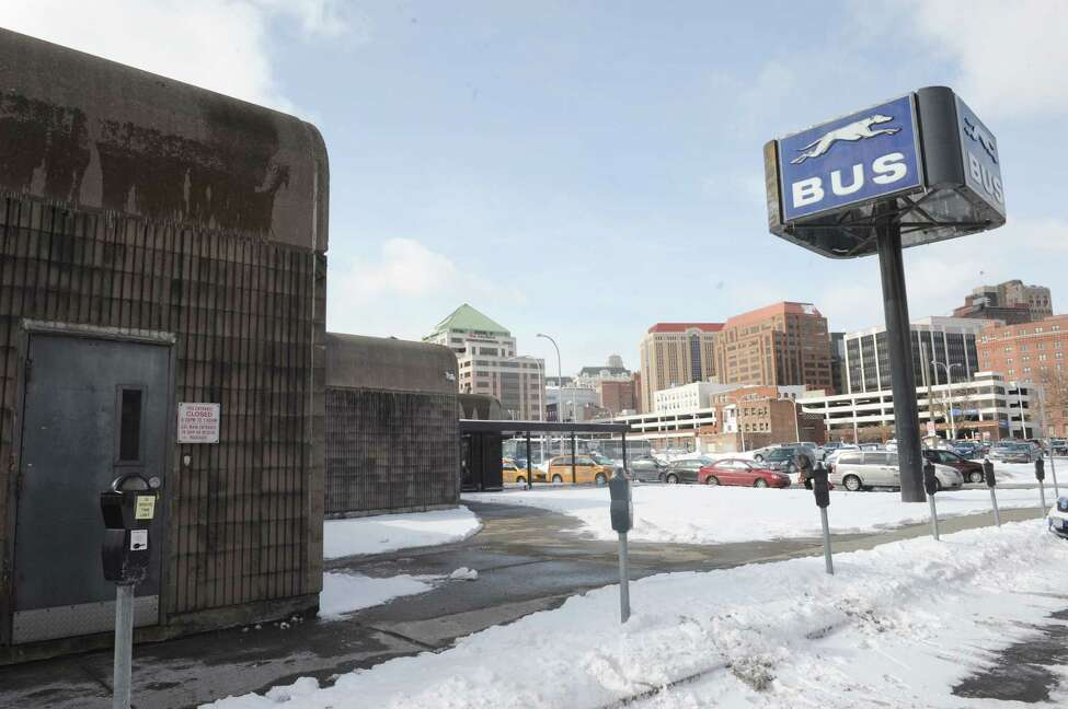 The Greyhound bus station at 34 Hamilton Street on Thursday March 13, 2014 in Albany, N.Y. (Michael P. Farrell/Times Union)