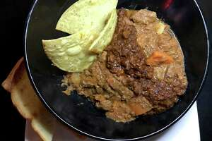 The House Made Red Top at Luther's Cafe marries a savory Irish stew with the restaurant's famous chili.