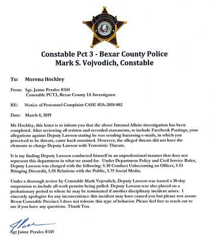 Reserve constable deputy suspended after threatening emails to S A