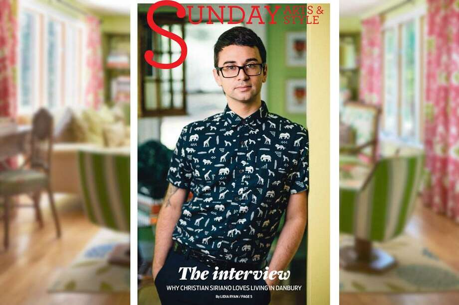 Christian Siriano appeared on the cover of Hearst Connecticut Media's Sunday Arts & Style in 2016 when he moved into a summer house in Danbury. Photo: File Photo