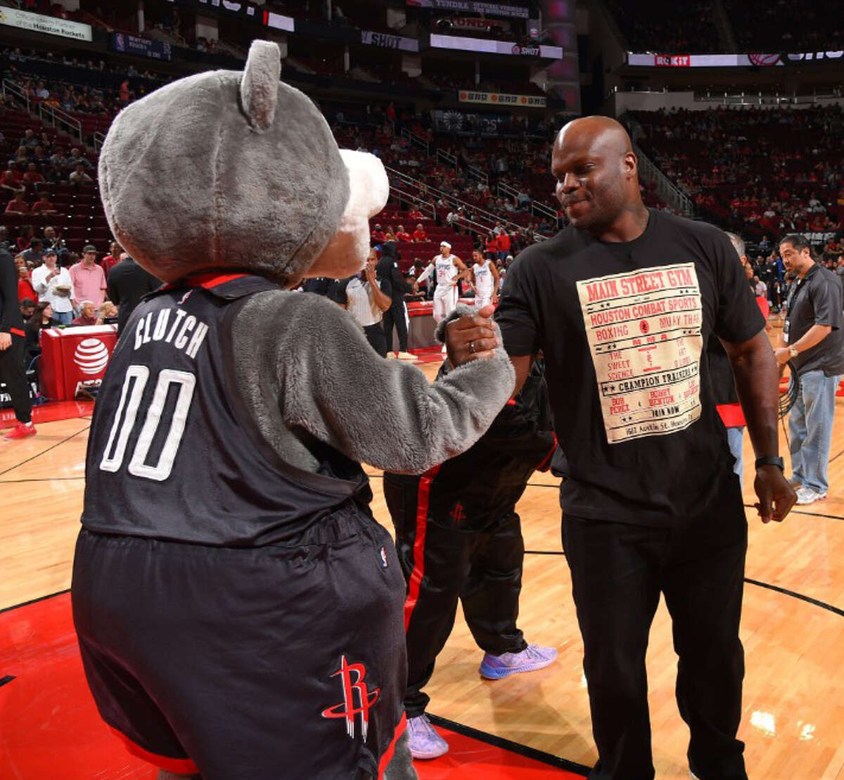 Oct. 26, 2018 Derrick Lewis, UFC fighter Made it Rockets lost to the Clippers, 133-113