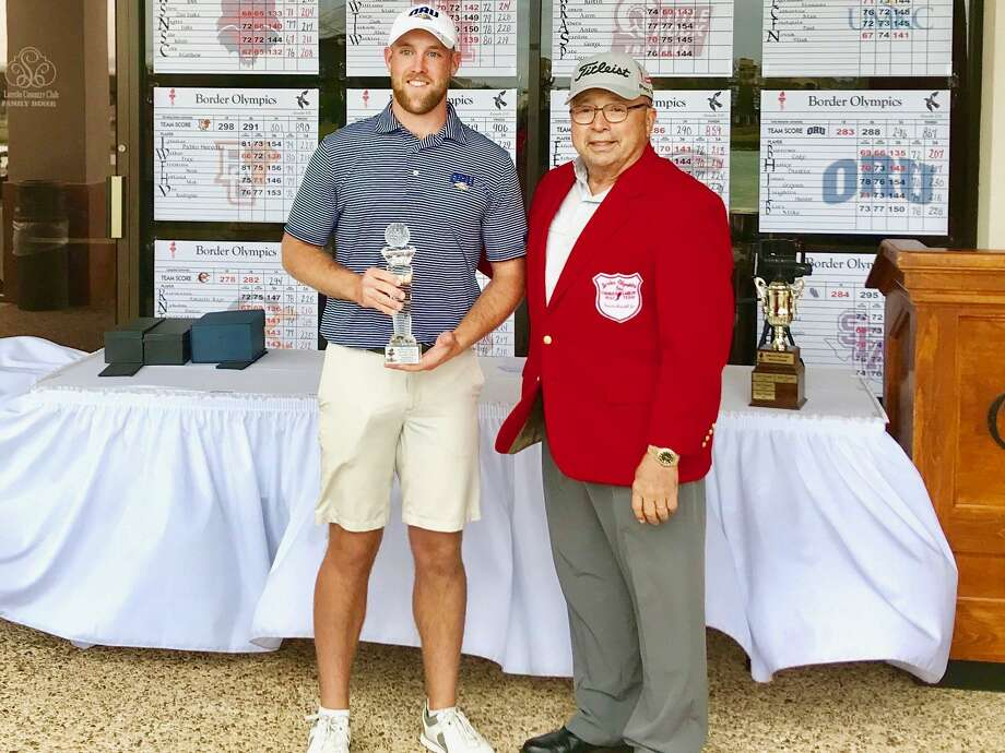 Cody Burrows from Oral Roberts finished in second place at the 68th Border Olympics collegiate golf tournament Tuesday at the Laredo Country Club. Photo: Courtesy Photo