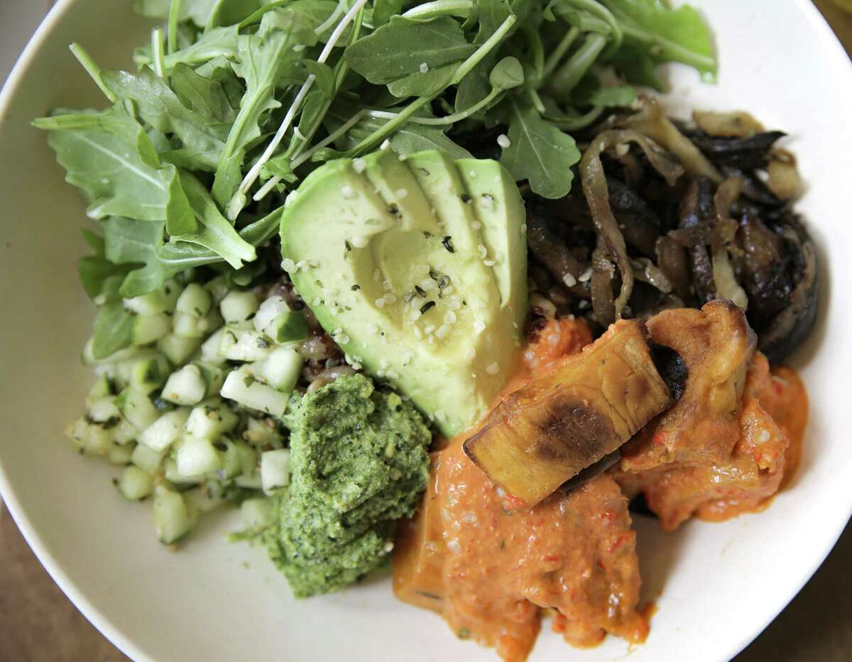 The Mother Earth bowl served at Flower Child, opening a third location in Houston at 1533 N. Shepherd.