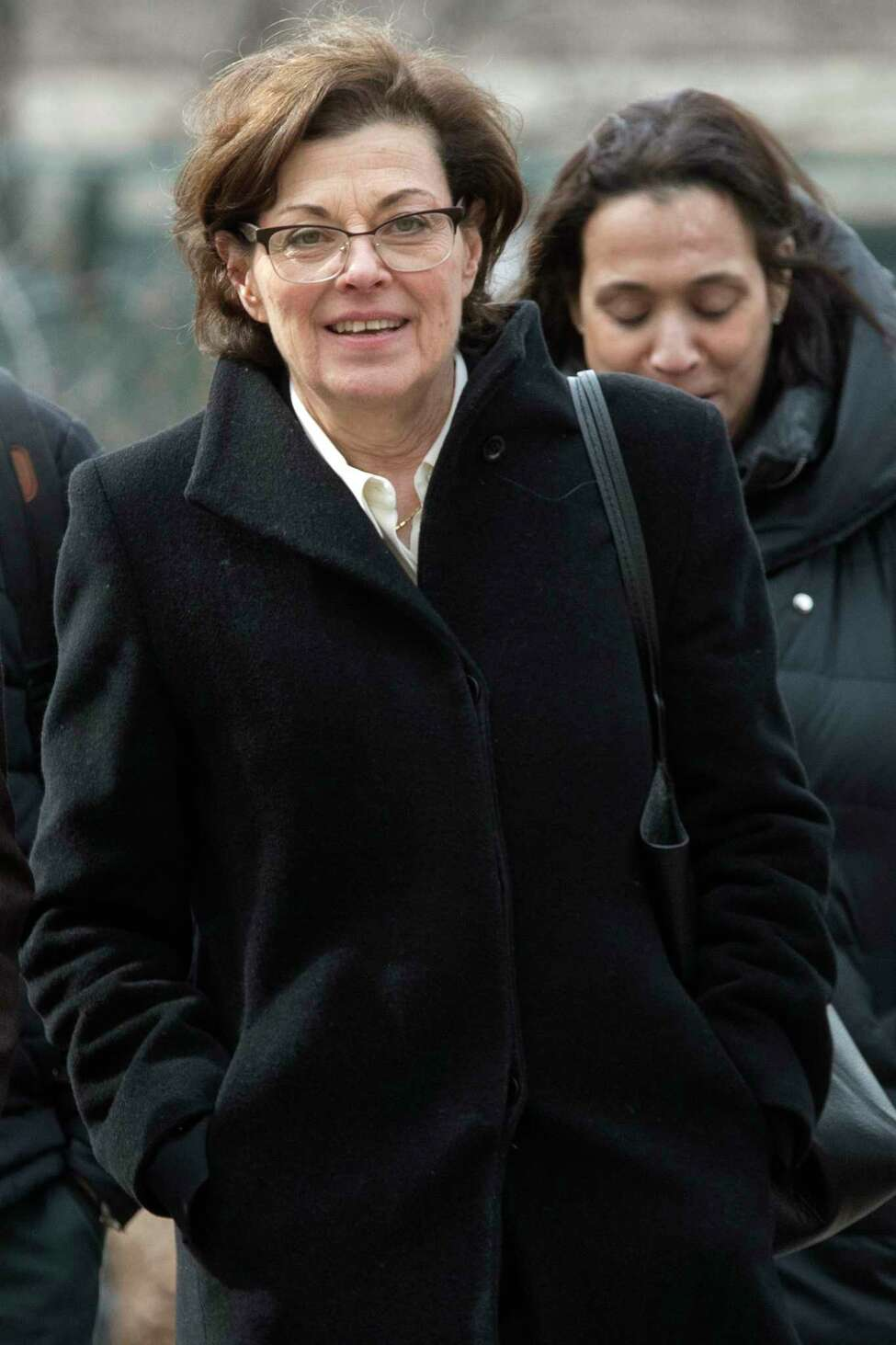 Nancy Salzman arrives at Brooklyn federal court on  Wednesday, March 13, 2019, in New York. Salzman, a co-founder of NXIVM, pleaded guilty to one count of racketeering conspiracy.