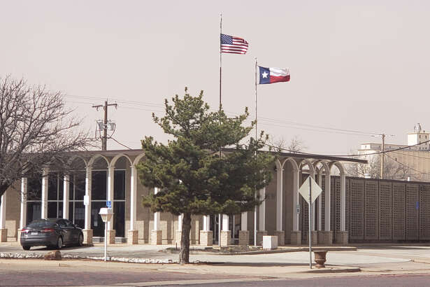 Strong winds are all across Plainview and extended flags at City Hall on Wednesday afternoon.