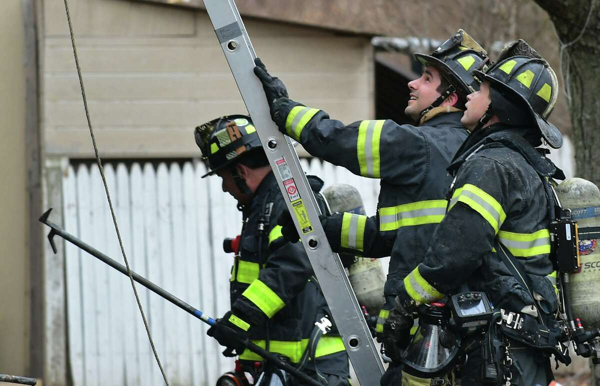 The Norwalk Fire Department, pictured here responding to a fire at Colonial Village on Wednesday, March 13, 2019, in Norwalk, Conn, will be getting an injury prevention program.